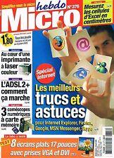 Micro Hebdo   N°376   30 Juin Au 6 Juillet 2005 : Trucs et astuce pour les navig