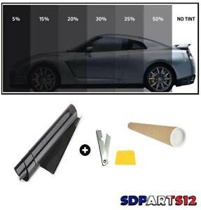 Film solaire lumière Noir qualité PRO, 76cm x 3m, teinté 50%  auto, batiment