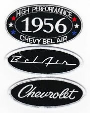 1956 CHEVY BEL AIR SEW/IRON ON PATCH BADGE EMBLEM EMBROIDERED HOT ROD CAR