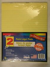 """2 pk FULL SIZE 8.5 x 11"""" YELLOW LEGAL NOTE PADS lined 50 SHEETS USA Pad"""