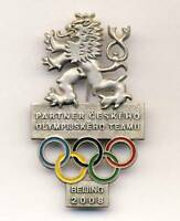 2008 BEIJING Olympics CZECH Republic NOC PARTNER pin badge OLYMPIC Games RARE S