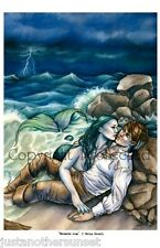 Selina Fenech Print Mermaid's Loss Man Love Storm Ocean Beach Lovers Couple New