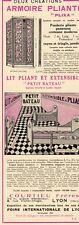 ARMOIRE PLIXA LIT PETIT BATEAU COURTIEU FRERE LYON PUBLICITE PUB 1929 FRENCH AD