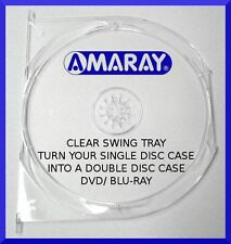 CLEAR AMARAY DVD/blu-ray case SWING TRAY (holds 1 disc) - NEW