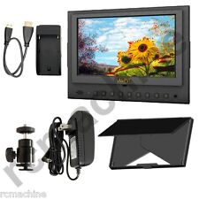 "Lilliput 7"" 5D-II/O/P HDMI In & Out PEAKING Monitor Canon 5D2+cable+shoe mount"