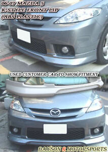 K-Style Front Lip (ABS) Fits 06-07 Mazda 5