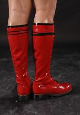 Flat heel latex knee high men boots-0.8mm thicker EU37-45