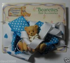 "CHERISHED TEDDIES ""BEARETTES  HAIR ACCESSORIES PIN WHITE & BLUE"" 273597  MINT"