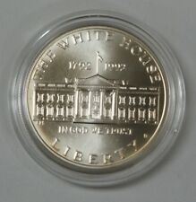1992 White House 200th Anniversary UNC Silver Dollar Commemorative Coin in OGP
