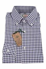 Luigi Borrelli Luxury Vintage 15.5/39 Casual BD Shirt Purple & White Checks