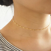 Fashion Women Sequins Choker Necklace Simple Chain Collar Gothic Punk Jewelry ce