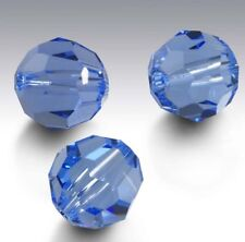 15 Pieces Swarovski Element 5000 faceted 4 mm Round Beads Crystal Lt Sapphire