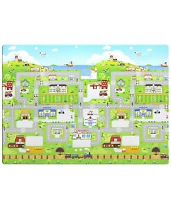 BABYCARE Hoobei Water Resistant Multi Purpose Flexible Play Mat - Run to Town