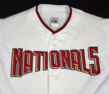 Washington Nationals Majestic Jersey White 6400 Baseball Men Sz XL EUC