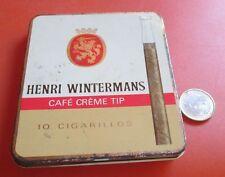 Henri Wintermans Cafe Creme Tip Cigarillos 10 Holland  Metal Tin Box