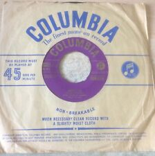 """DON,DICK AND JIMMY:""""ANGELA MIA"""".1954 COLUMBIA""""GOLD""""PRINT+COVER.RARELY SEEN 45!"""