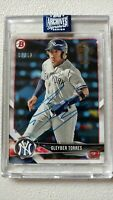 GLEYBER TORRES 2020 Topps Archives Signature Series Buyback Auto Blue Ink 7/12 !
