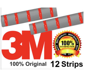 12 x NUMBER PLATE STICKY PADS 3M Double Sided Number Plate Tape Fixings