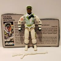 G.I. Joe ARAH 1986 ICEBERG Action Figure Complete w/ FILE CARD WHITE MINT+++!!!