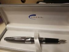 Cross Apogee Fountain Pen - Sable Herringbone - Fine Point - AT0126-5FD