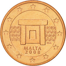 [#504437] Malte, 5 Euro Cent, 2008, SPL, Copper Plated Steel, KM:127