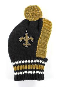 NEW ORLEANS SAINTS Little Earth Production NFL Dog Knit Winter Hat Sizes S-L