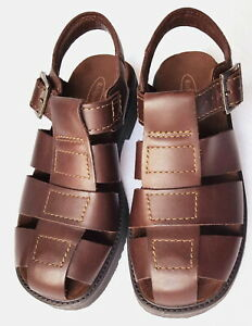 New!!~Men's ROCKPORT Fisherman Sandals~Brown Leather Size 8-1/2~NWOB