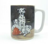 Otagiri Linda Picken Mug Cup Japan Dalmatian Dog Firefighter Helmet Coffee Tea