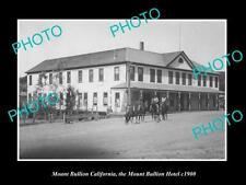 OLD LARGE HISTORIC PHOTO OF MOUNT BULLION CALIFORNIA, THE TOWN HOTEL c1900