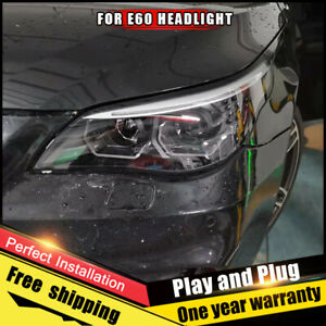 For BMW 5 Series E60 Headlight Assembly Bi-Xenon Lens Double Beam HID 2008-2010