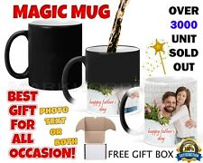 Personalised Magic Mug Cup Heat Colour Changing Tea Coffee Gift Surprise Fun