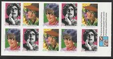 Australia Sc# 2483a 2006 Barry Humphries Booklet Panes of 10, Mnh Vf