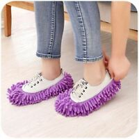 NEW MICROFIBRE DUSTER SHOE SOCK SLIPPERS MOP REMOVER CLEANING FLOOR POLISHERS UK