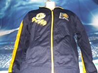 Indiana Pacers NBA Basketball Zippered Jacket, Men's Medium, BRAND NEW