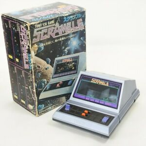 LCD SCRAMBLE Boxed Handheld Game Watch TOMY LSI Tested JAPAN Ref 1412