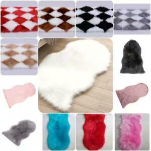 Large Faux Fur Sheepskin Rug Fluffy Mat Room Sofa Hairy Mat Shaggy Floor Carpet