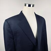 Jack Victor Mens 48XL Classic King Sport Coat Black 100% Wool Two Button Vented