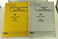Vintage ONAN NB Series Engine Operators Service Manual & Parts Catalog