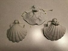 3 Shell Christmas Ornaments 2 Furlong, 1 Roman