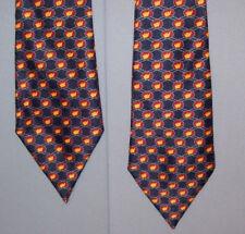 Clipper BLACK BURGUNDY ORANGE Geometric Polyester Bow Tie made in USA bt-32