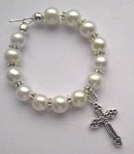 """Personalised Handmade """"Cross"""" Wine Glass Charms, God Parent Gift"""