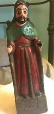 antique latin america santos 9 inch robed bearded figure, one handed