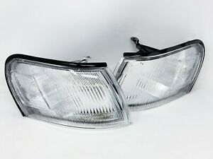 Set of Pair Clear Corner Park Signal Lights for 1993-1997 Toyota Corolla