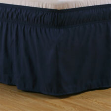 15in Drop Elastic Bed Skirt Dust Ruffle Wrap Around Full Beds Easy Fit Blue Usa
