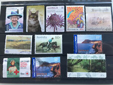 Australia 11 used stamps all different no duplicates VF See 3 photos