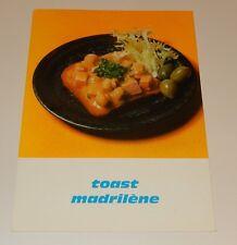 Fiche Recette de CUISINE Pain JACQUET : Toast Madrilène - Vintage