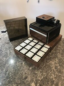 Vintage Bell & Howell Slide Cube Projector w/ wired remote, 15 unused cubes