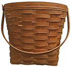 """Longaberger 1988 Large Apple Basket With Handle, Initialed and Dated – 10 ½""""x12"""""""