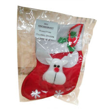 Christmas Red Deer With Snowflake Stocking XMAS Gift Candy Bags Hanging