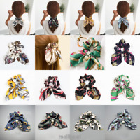 Ladies Women Girls Bow Knot Hair Rope Ring Tie Scrunchie Ponytail Holder Pearl